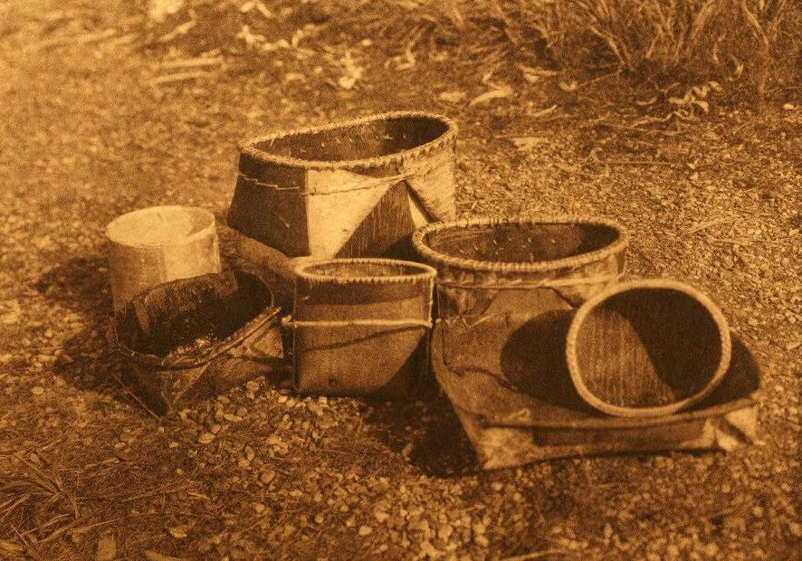 American Indian Pottery and Basketry : Kobuk Bark Dishes.