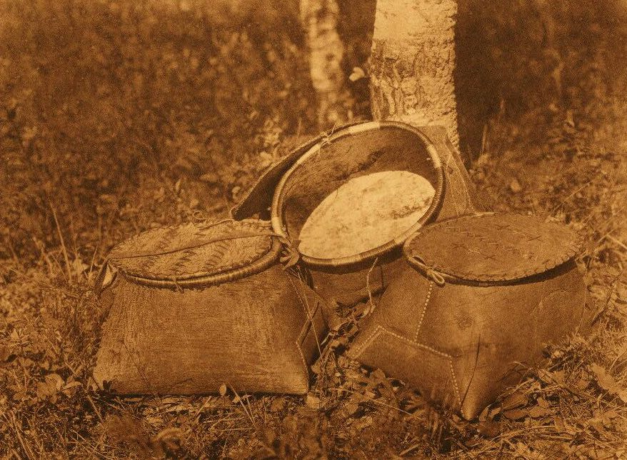 American Indian Pottery and Basketry : Cree Birchbark Baskets.