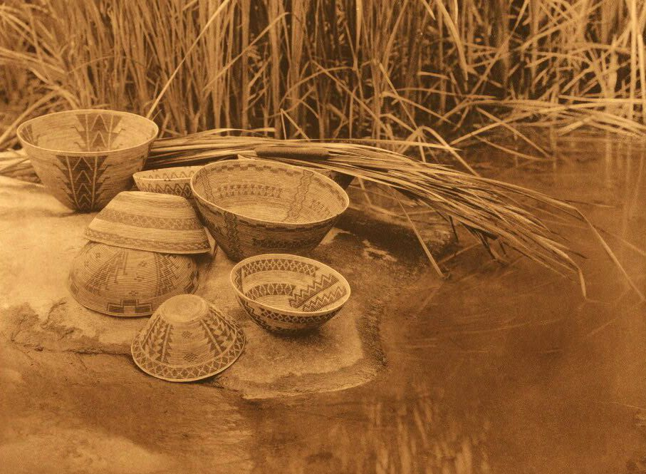 American Indian Pottery and Basketry : By the Pool - Tule River Reservation.