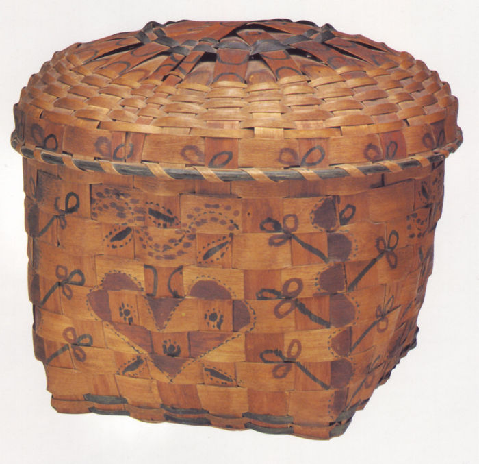 Covered Storage Basket (Eastern Woodlands Indian).