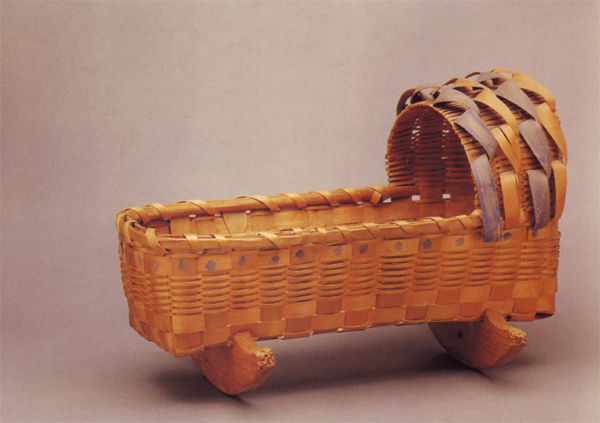 Micmac or Penobscot Doll Cradle Dated 1880-1930.
