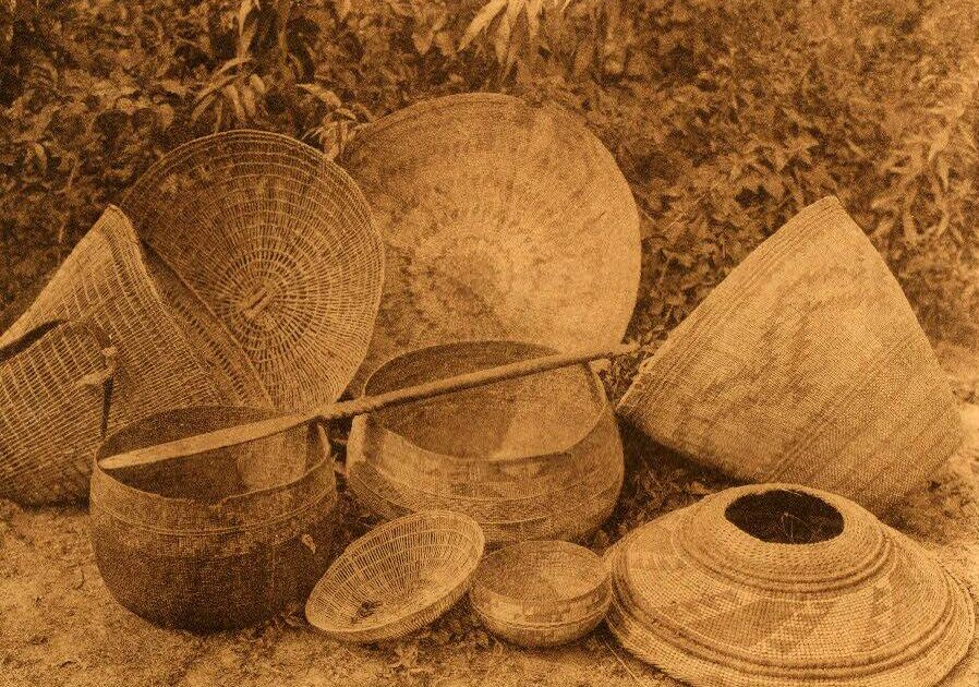 American Indian Pottery and Basketry : Hupa Baskets.