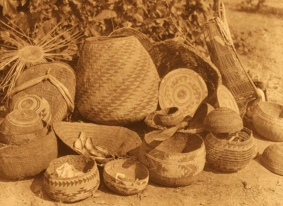 American Indian Pottery and Basketry : Karok Baskets.