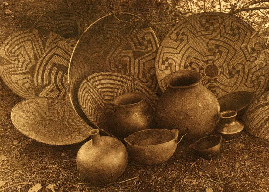 American Indian Pottery and Basketry : Maricopa Still Life.