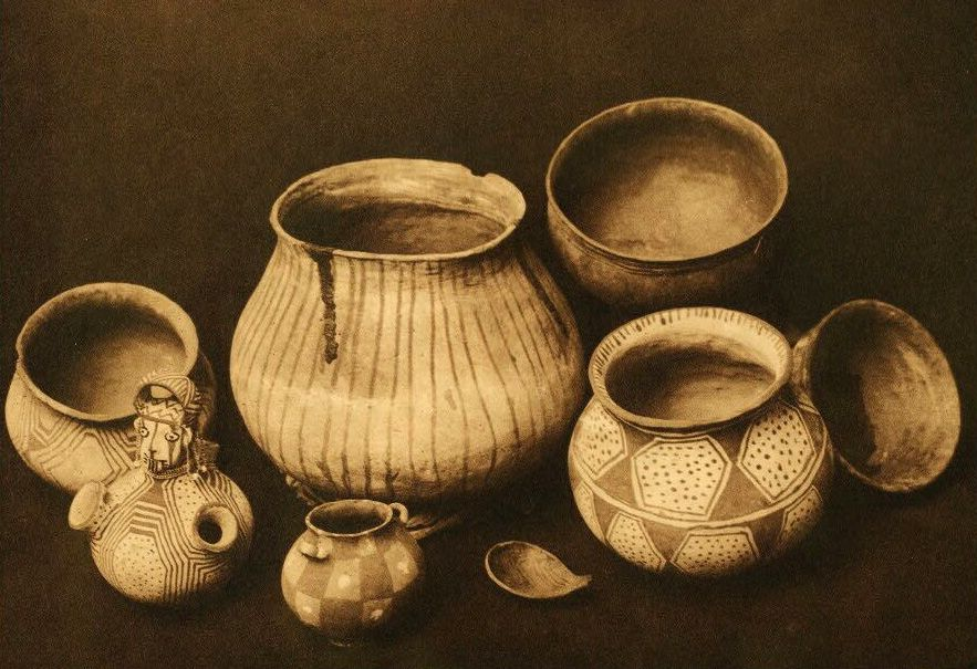 American Indian Pottery and Basketry : Mohave Still Life.