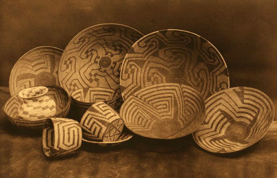 American Indian Pottery and Basketry : Pima Baskets.