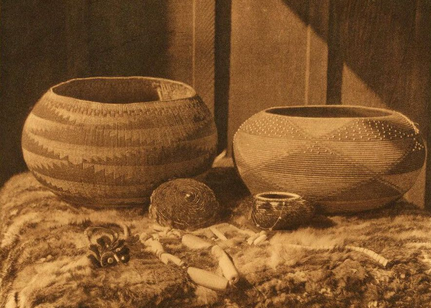 Pomo Baskets and Magnesite Beads.