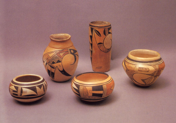 Hopi Pueblo Pottery Dated 1910-1930.