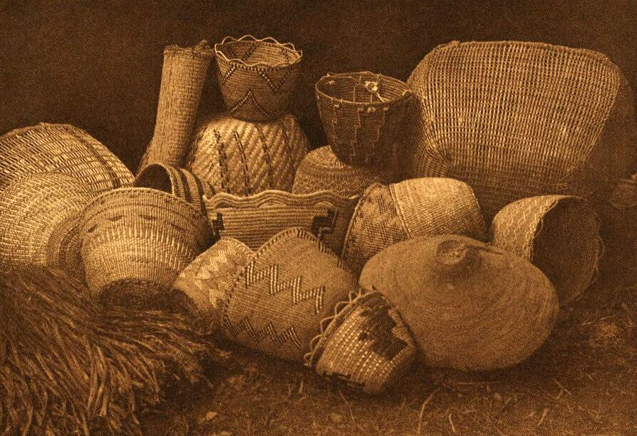 American Indian Pottery and Basketry : Quinault Handiwork.