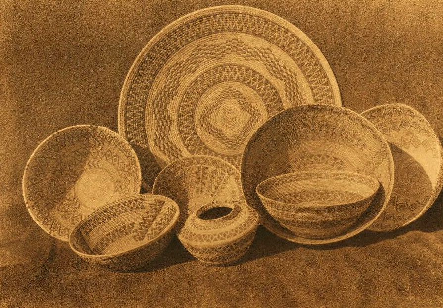 American Indian Pottery and Basketry : Rattlesnake Design in Yokuts Basketry.