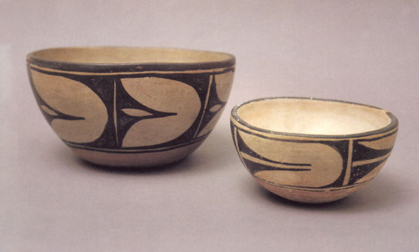 Two Santa Domingo Bowls dated 1920-1940.