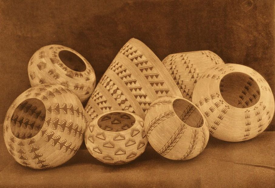 American Indian Pottery and Basketry : Washo Baskets.