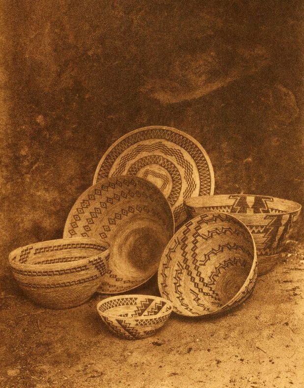 American Indian Pottery and Basketry : Yokut Baskets in the Painted Cave.