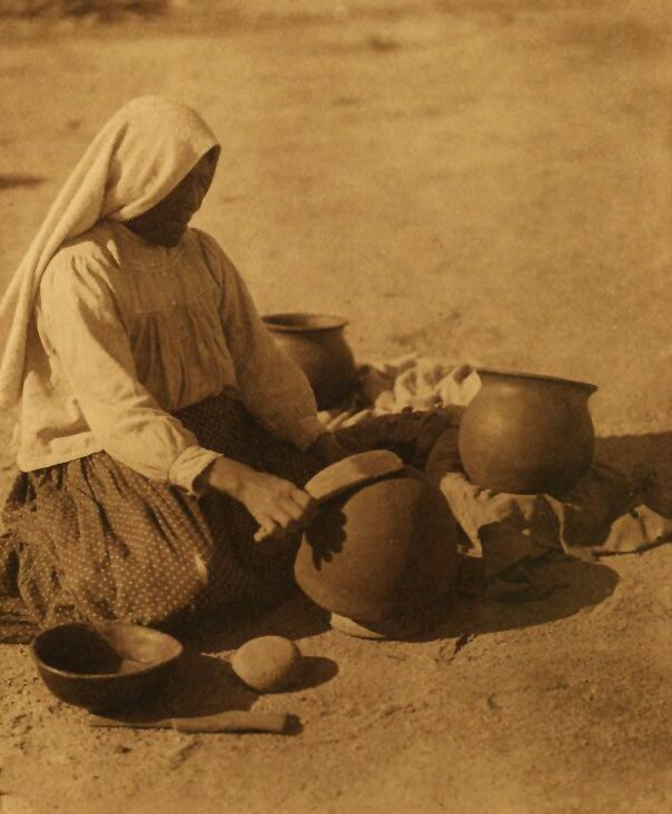 American Indian Pottery and Basketry : Papago Potter.