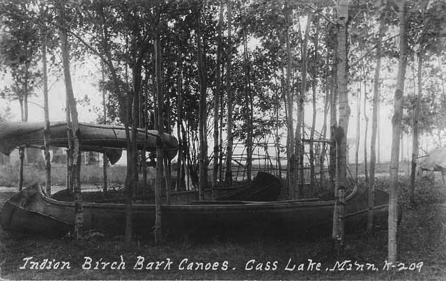 Birch Bark Canoes, Cass Lake.