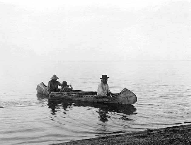 Canoe Scene at the South Shore of Mille Lacs Lake.
