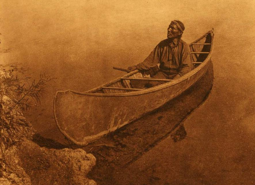 American Indian canoe photograph : A Cree Canoe.