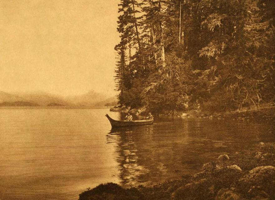 American Indian canoe photograph : Boston Cove.