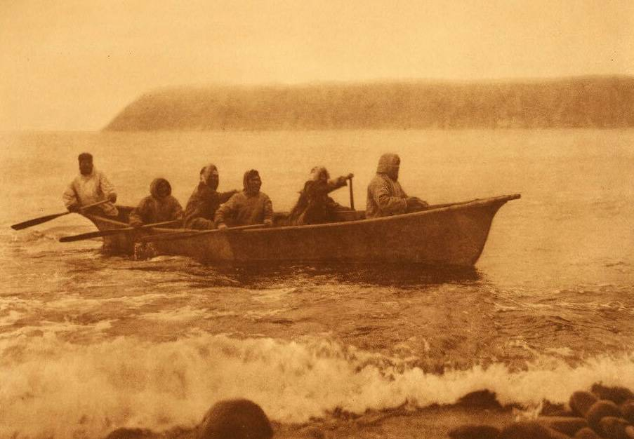 American Indian canoe photograph : Diomede Boat Crew.