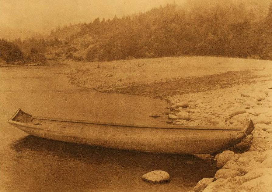American Indian canoe photograph : A Hupa Canoe.