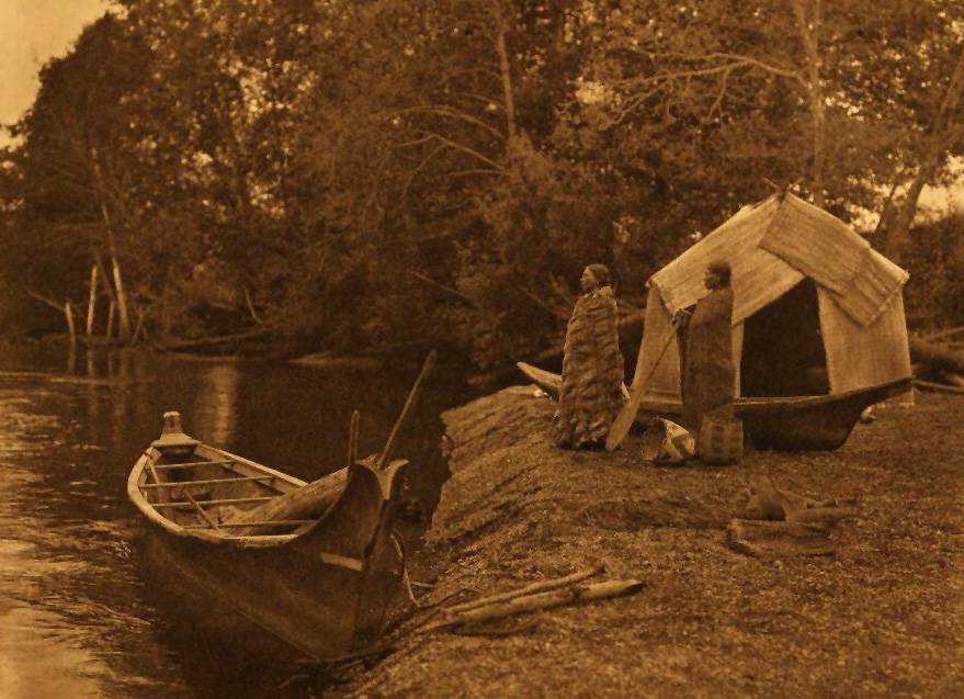 American Indian canoe photograph : On Skokomish River.