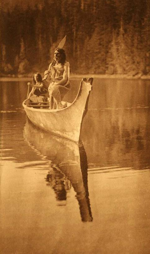 American Indian canoe photograph : At Nootka.