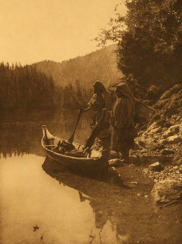 American Indian canoe photograph : On Clayoquot Sound.