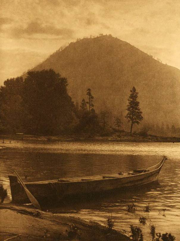 American Indian canoe photograph : Wind Mountain.