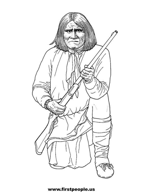 Geronimo - Clipart to color in.