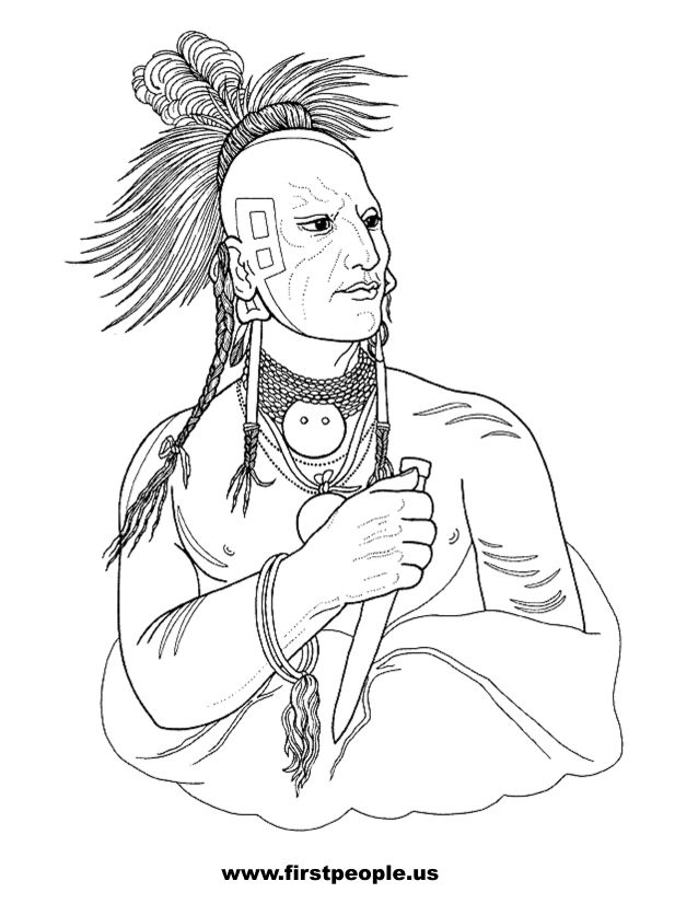 kanza tribe coloring pages - photo#4