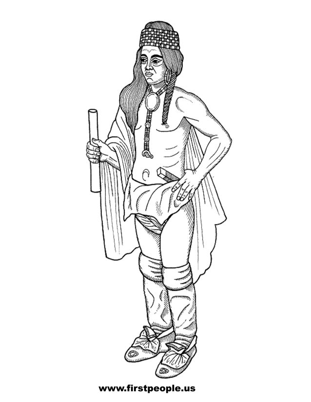 native american clipart to color in