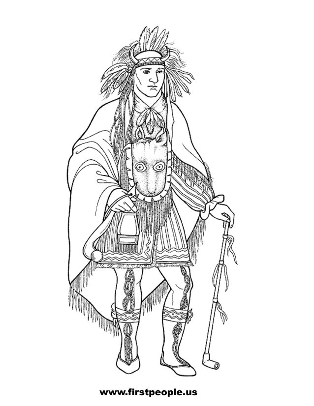 sioux coloring pages - photo#36