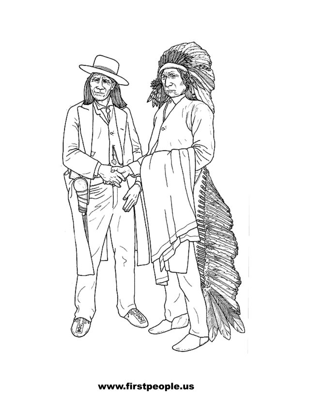 Red Cloud - Clipart to color in.