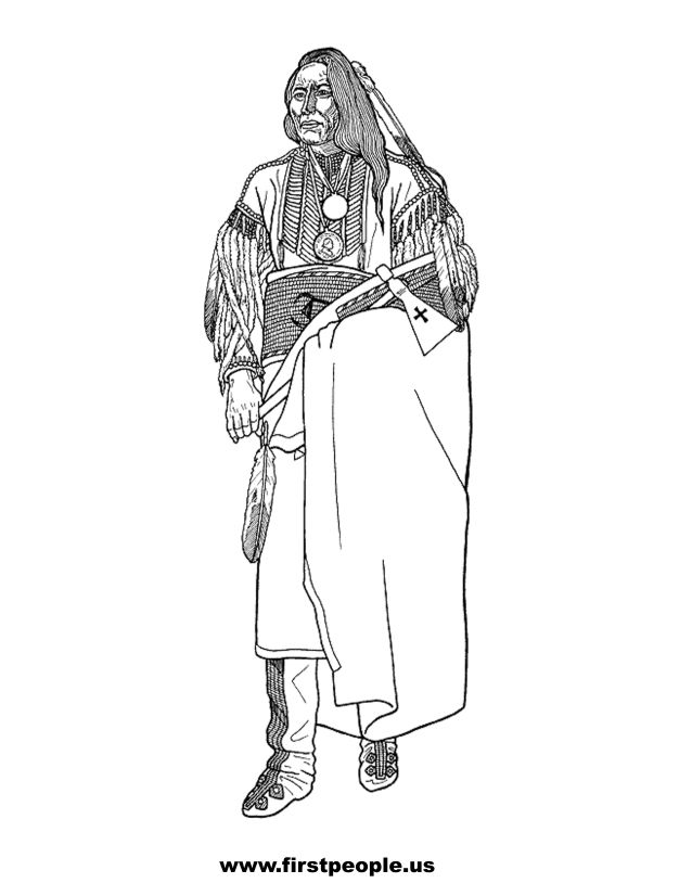 Native American Clipart To Color In Page 2