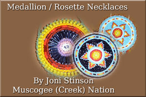 Rosette Medallion Necklaces.