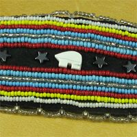 Beaded Bear Fetish Barrette.