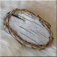 birch bark barrette.