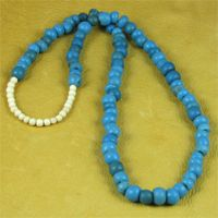 Blue Padre Trade Beads Necklace.