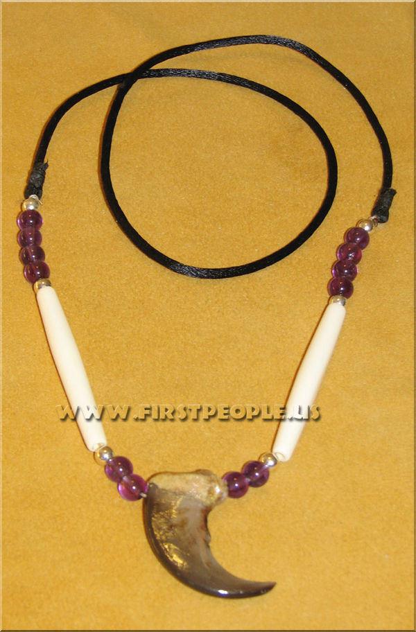 Bear Claw Jewelry handmade with genuine bear claw.