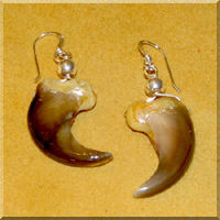 Bear Claw Earrings handmade by Barbara Shining Star.