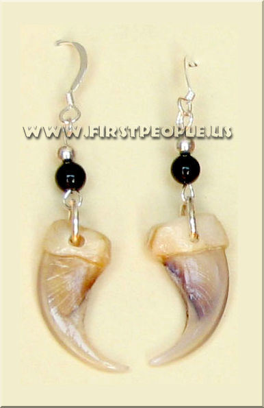 Handmade Wild Cat Claw Earrings