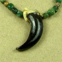 Alaskan Wolf Claw with Jade Beads Necklace.