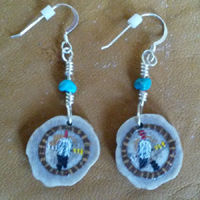Sweetgrass Basket Earrings.