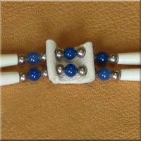 Double Stranded Choker with Blue Onyx.