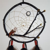Dream Catcher with Owl and Moon.