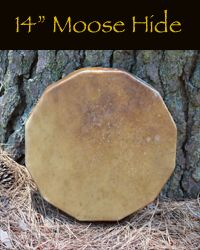 14 inch Moose hide hand drum.