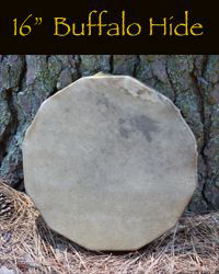 16 inch buffalo hide hand drum.