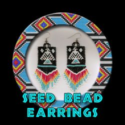 Seed Bead Earrings.