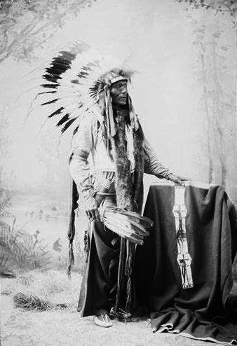 An old photograph of a Brule Indian.