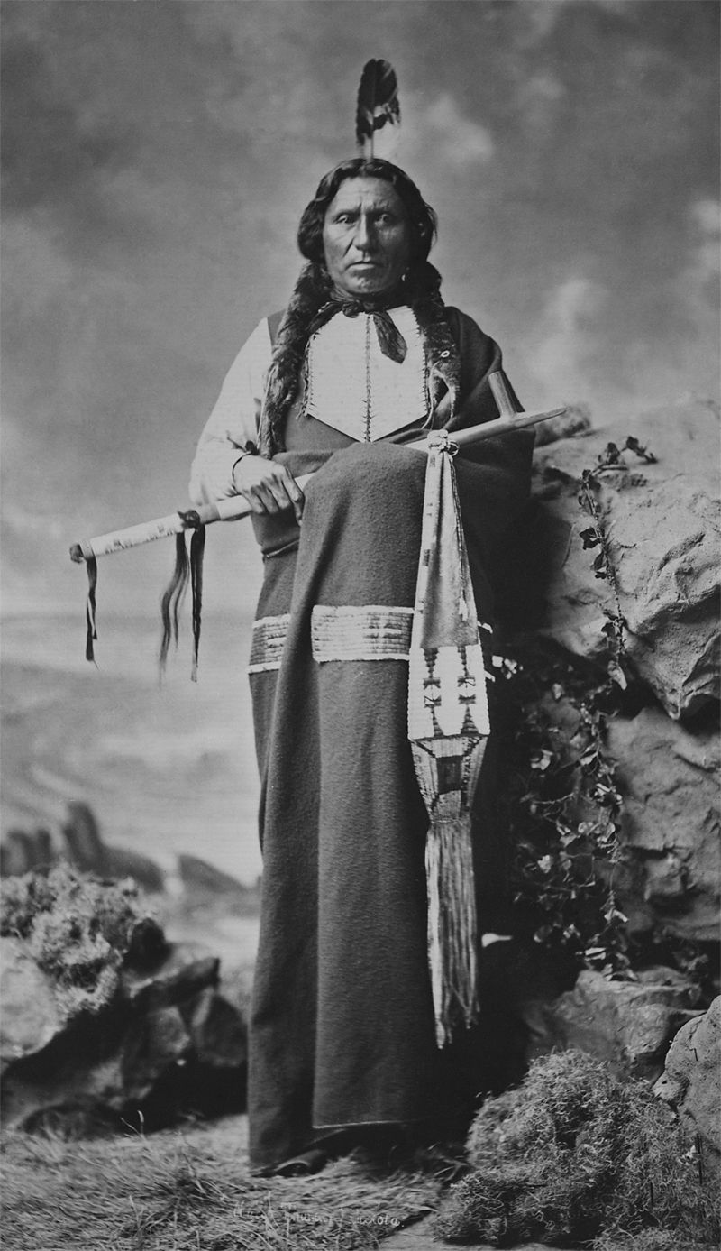 An old photograph of a Dakota Indian.
